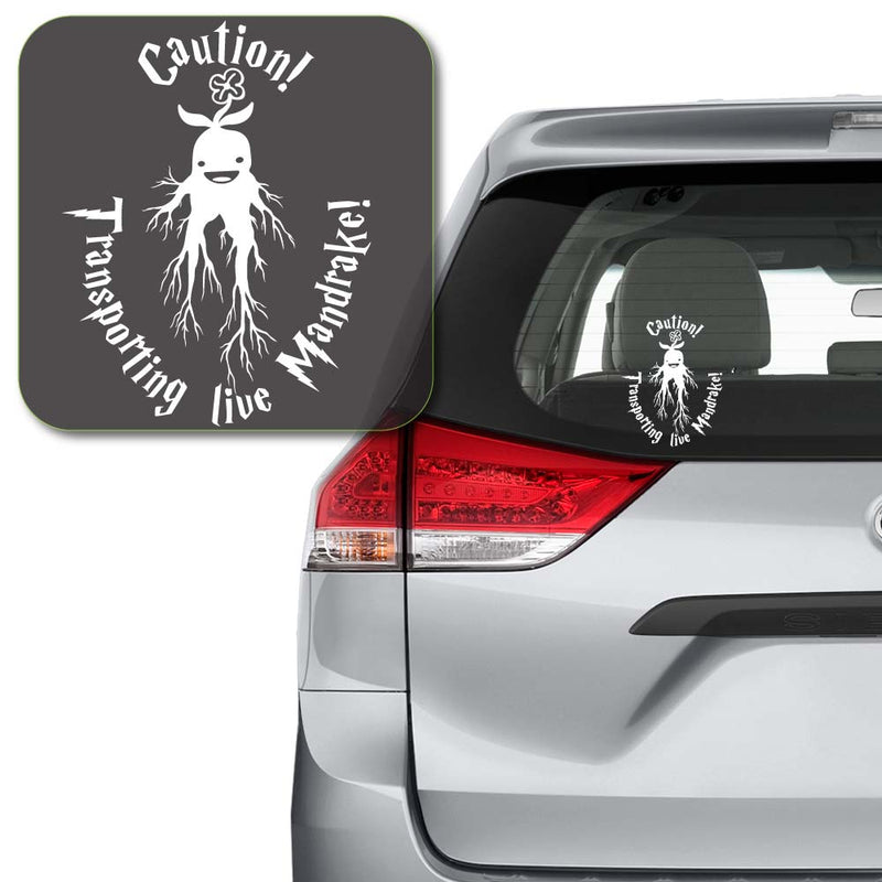 Caution Transporting Live Mandrake Harry Potter Decal Sticker for Car Window, Laptop and More # 997