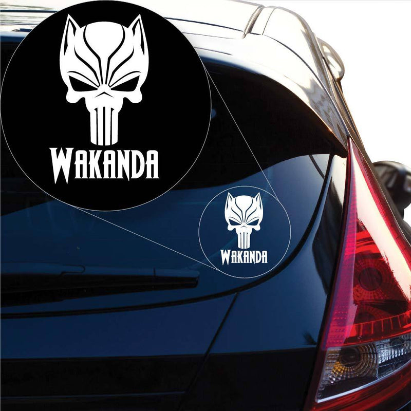 Black Panther Skull Panther Punisher Wakanda Decal Sticker for Car Window, Laptop and More. # 1010