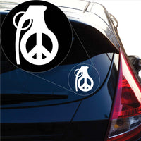 Peace Grenade Decal Sticker for Car Window, Laptop and More. # 1026
