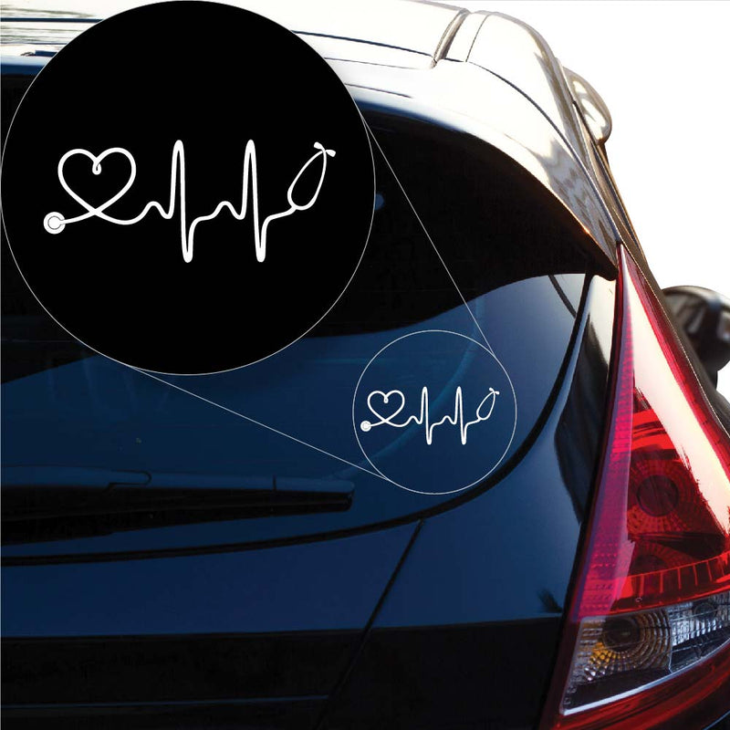 Love Doctor Nurse Decal Sticker for Car Window, Laptop and More. # 1047