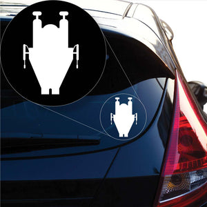 xStar Wars Rebel Ships A-Wing Decal Sticker for Car Window, Laptop and More. # 1054
