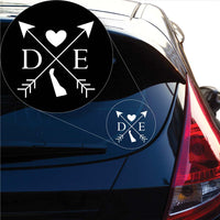 Delaware Love Cross Arrow State DE Decal Sticker for Car Window, Laptop and More. # 1073