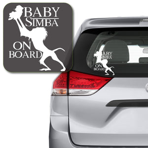 Baby Simba on Board Rafiki Lion King Decal Sticker for Car Window, Laptop and More. # 1118