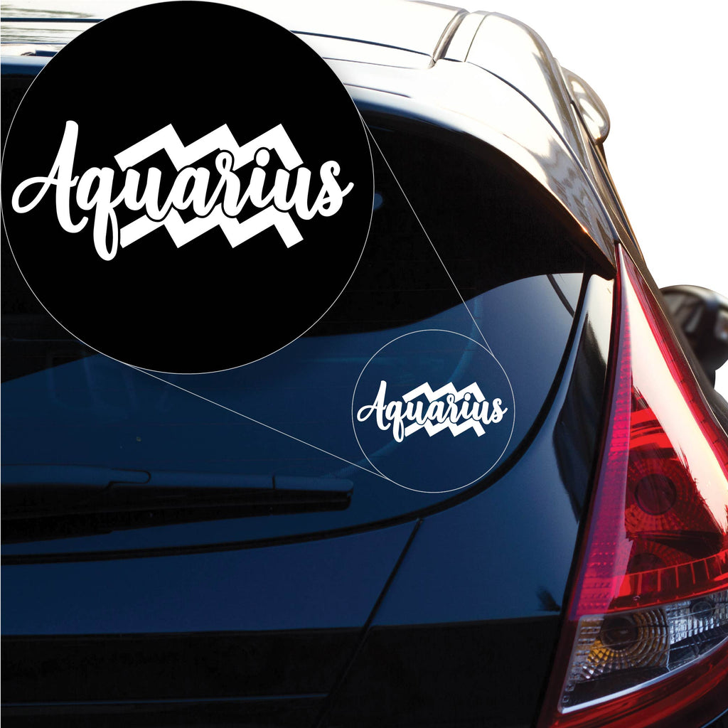 Aquarius Decal Sticker for Car Window, Laptop and More. # 1176