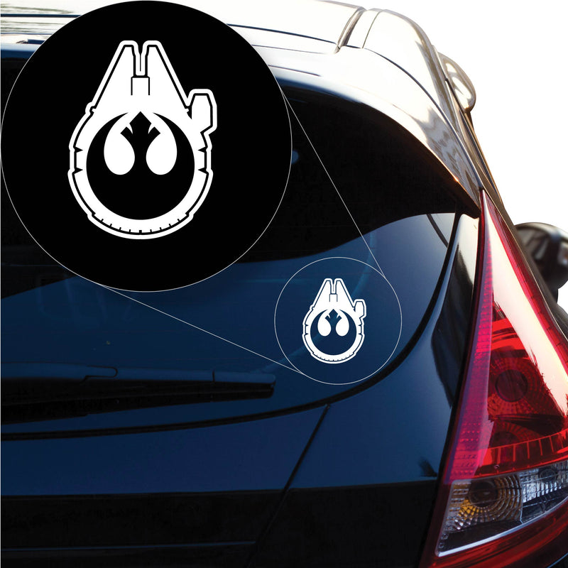 Star Wars Han Solo Rebel Millenium Falcon Decal Sticker for Car Window, Laptop and More. # 1144