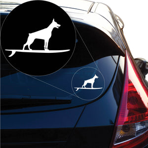 Doberman on Board Dog Decal Sticker for Car Window, Laptop and More. # 1263