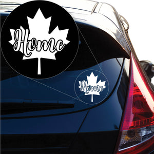 Canada Home Decal Sticker for Car Window, Laptop and More. # 1218