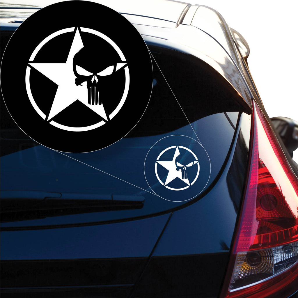 Jeep Star Punisher Decal Sticker for Car Window, Laptop and More. # 1165