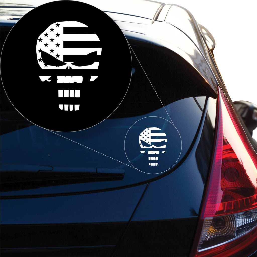 American Punisher Decal Sticker for Car Window, Laptop and More. # 1167