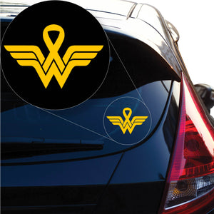 Wonder Woman Breast Cancer Decal Sticker for Car Window, Laptop and More. # 1231