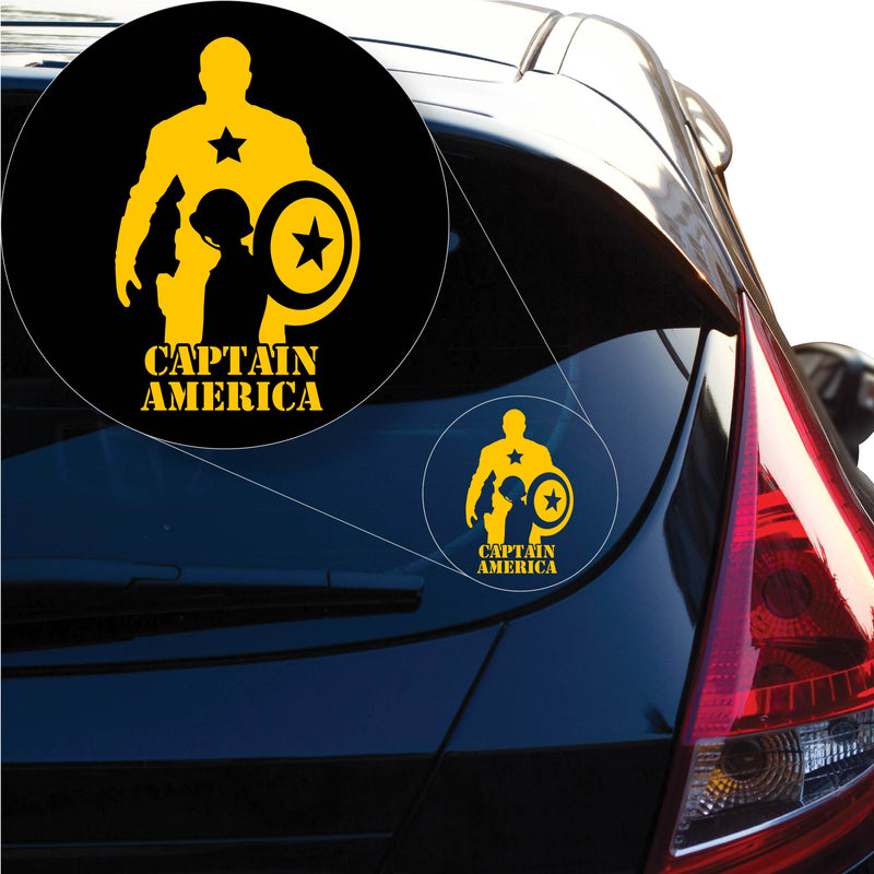 Captain America Decal Sticker for Car Window, Laptop and More. # 1201