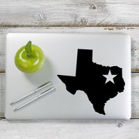 Texas Star Decal Sticker for Car Window, Laptop and More. # 1128