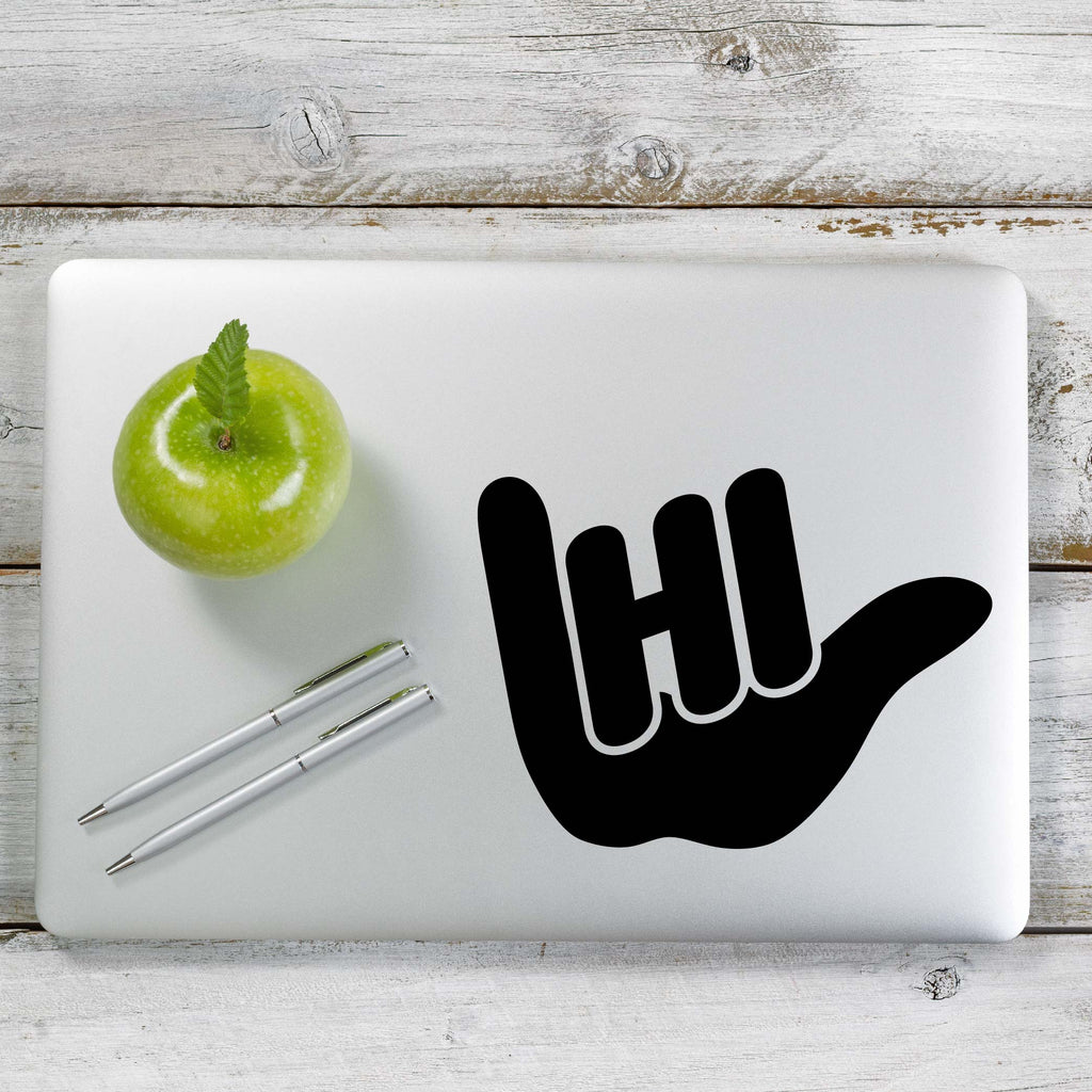 Hang Loose HI Hawaii Decal Sticker for Car Window, Laptop and More. # 1183