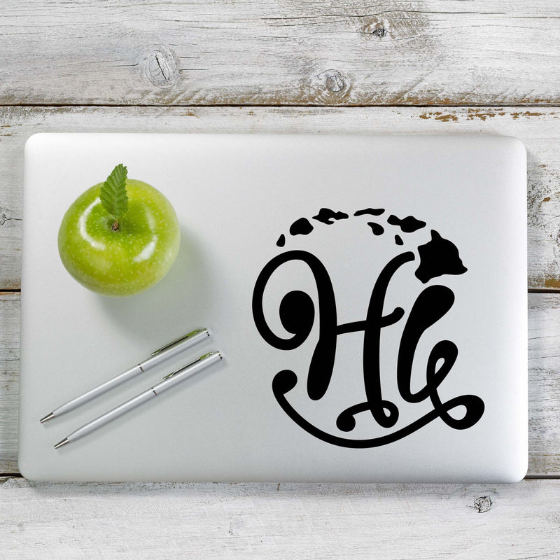 Hang Loose HI Hawaii Decal Sticker for Car Window, Laptop and More. # 1184