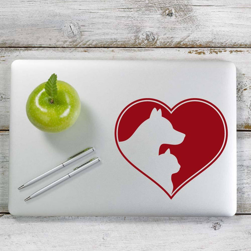Love Cat and Dog Decal Sticker for Car Window, Laptop and More. # 1024
