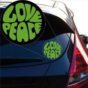 Love Peace Decal Sticker for Car Window, Laptop and More. # 1020