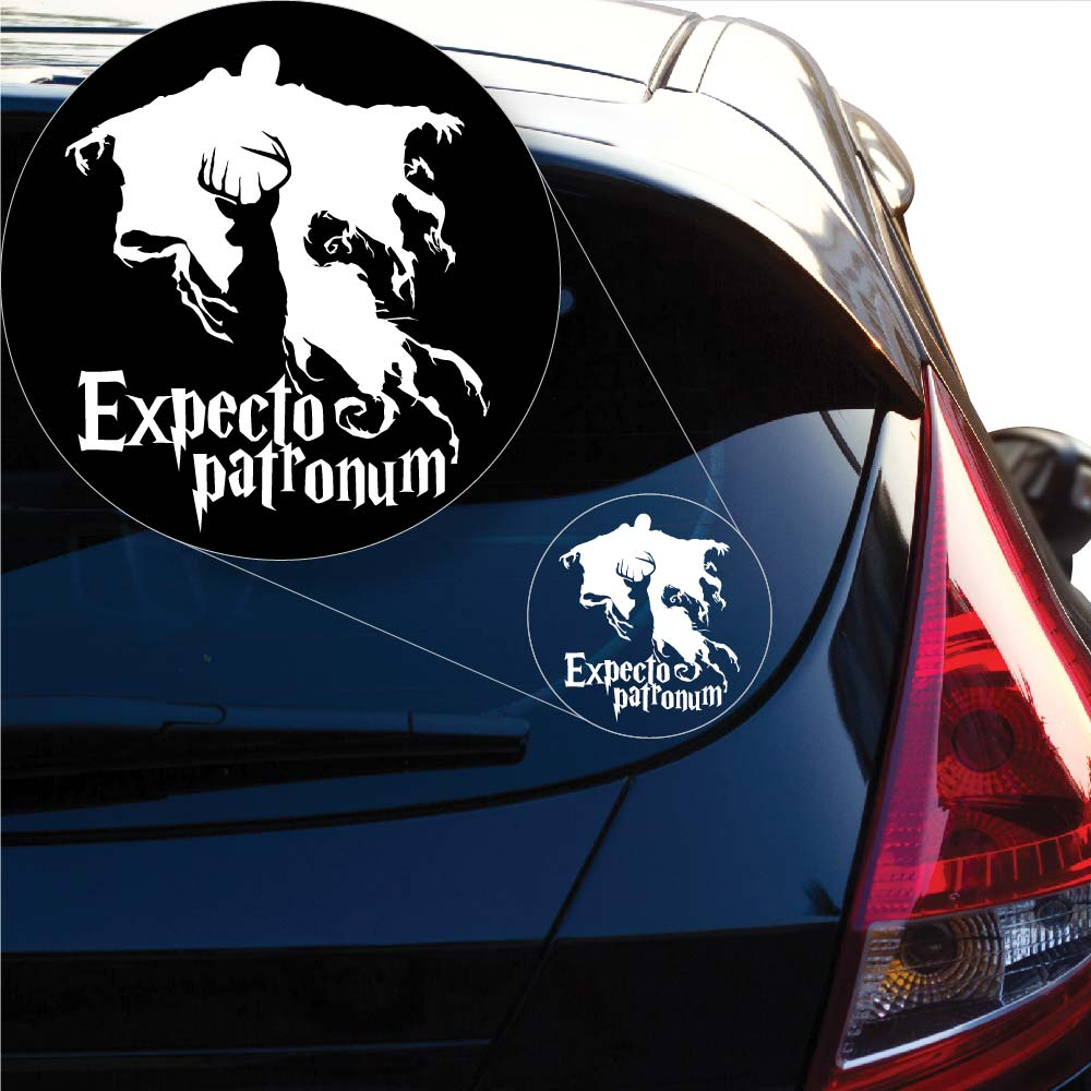 Harry Potter Expecto Patronum Decal Sticker for Car Window, Laptop and More. # 1032
