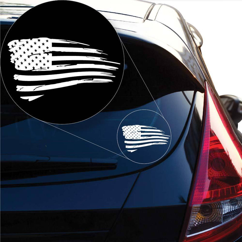 Distressed American USA FlagDecal Sticker for Car Window, Laptop and More # 975