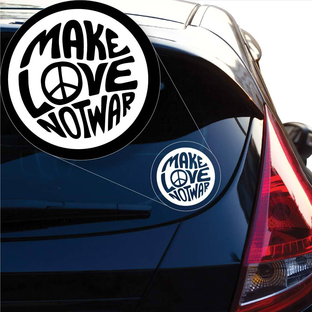 Make Love Not War Decal Sticker for Car Window, Laptop and More. # 1023