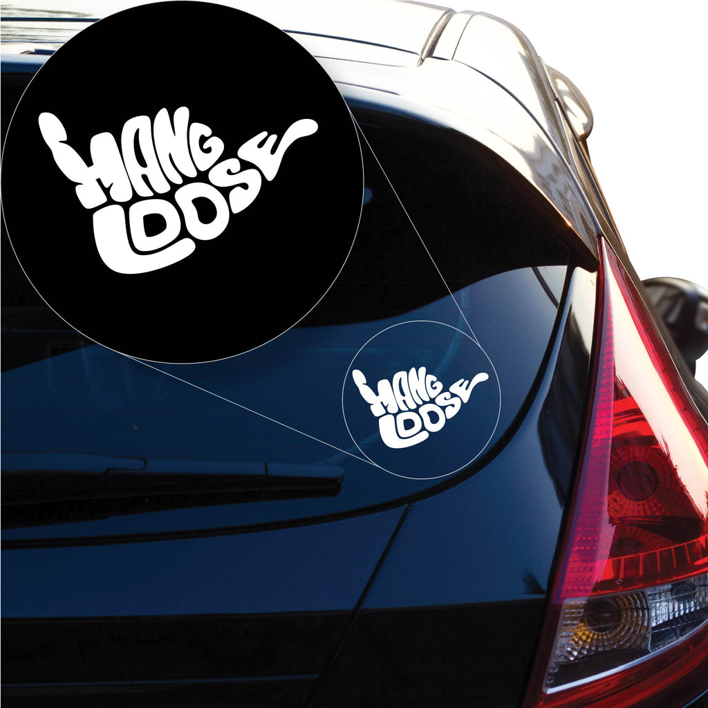 Hang Loose Hawaii Decal Sticker for Car Window, Laptop and More. # 1181