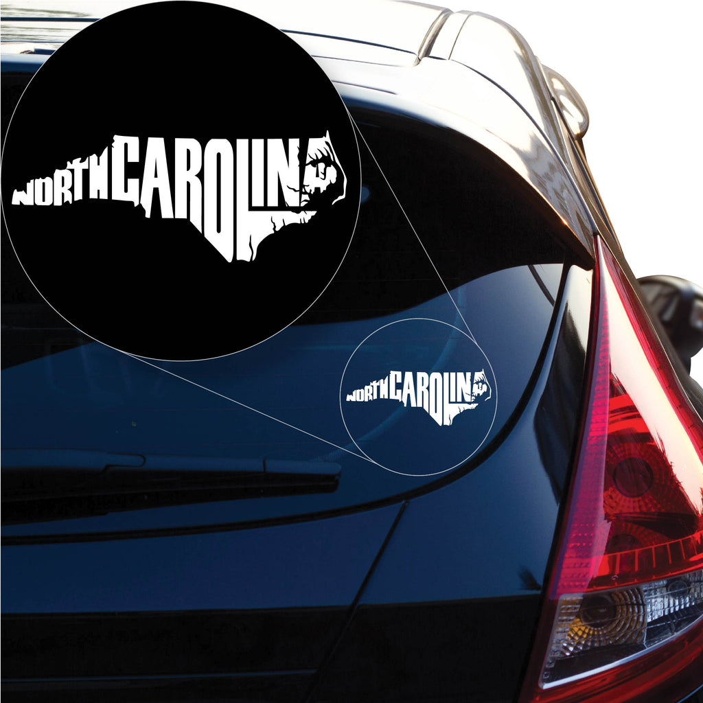 North Carolina Decal Sticker for Car Window, Laptop and More. # 1185