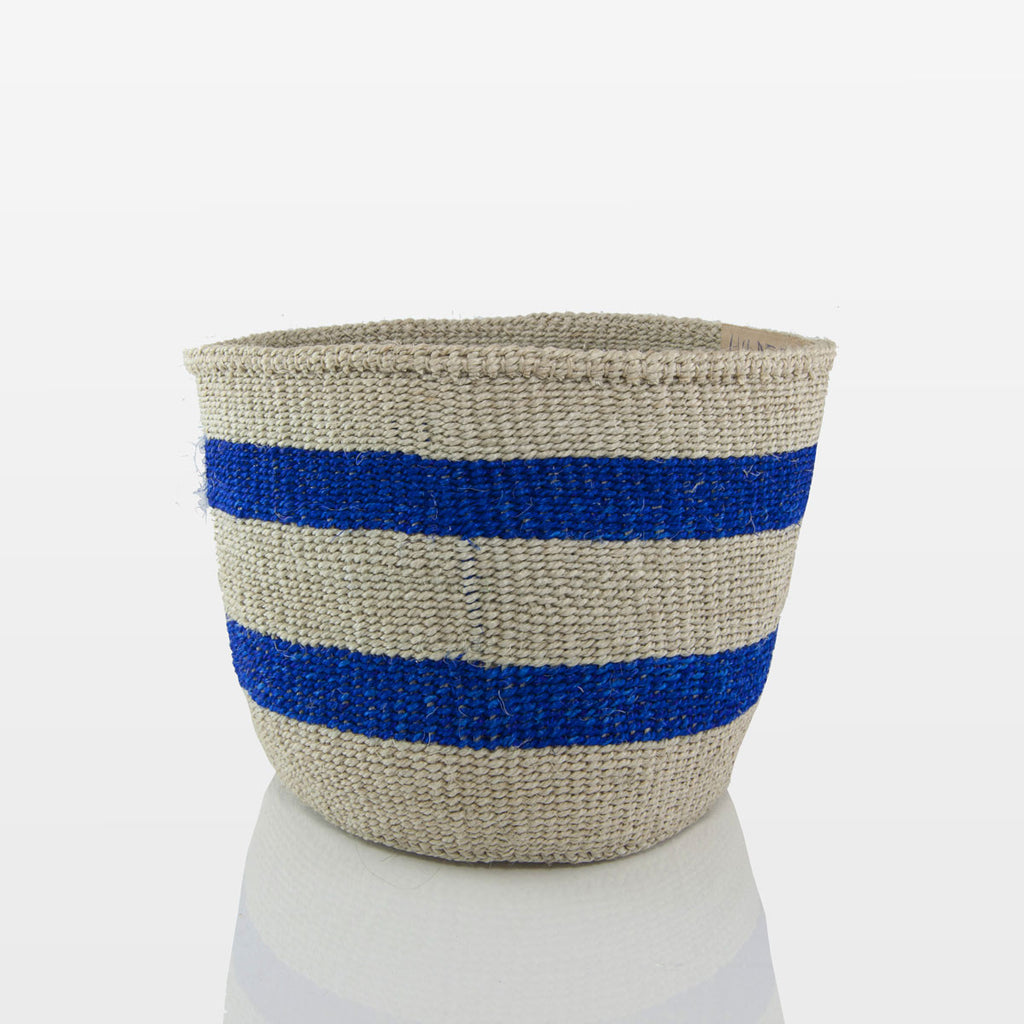 Azure Stripe Basket