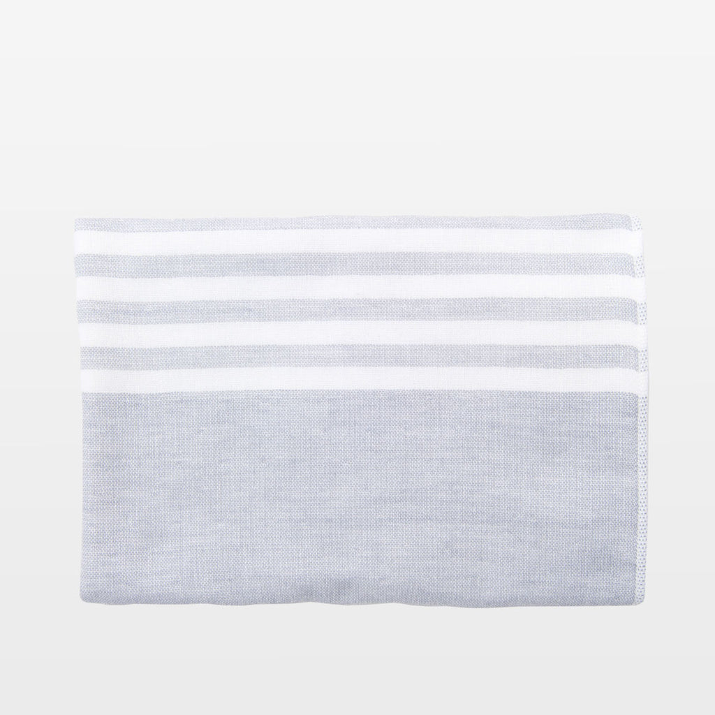 Grey + White Square Towel
