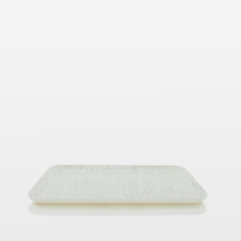Medium Grey Stripe Linen Tray