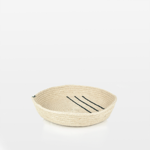 Small Black Jute Tray
