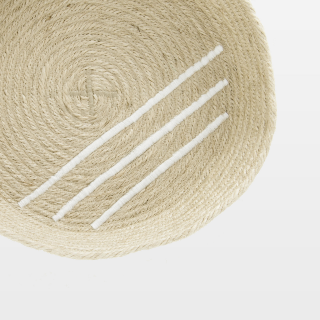 Small White Jute Tray