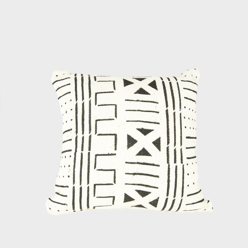 Blanca 03 Mudcloth Square Pillow