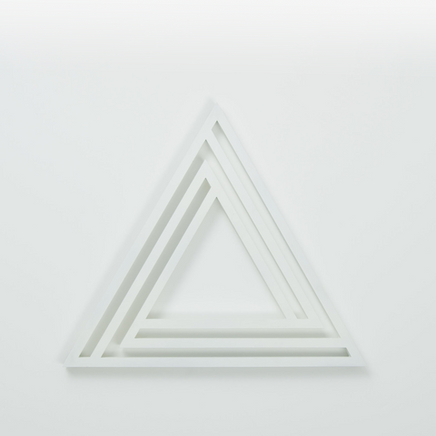 White Triangle Trivet