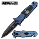 Tac-Force TF-700NY Spring Assisted Folding Knife - Navy