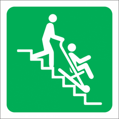 Evacuation Stair Chair Safety Sign