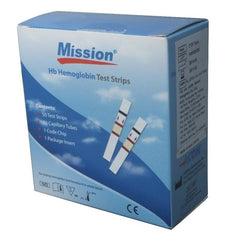 Mission HB Haemoglobin Test Strips (100/Pack)