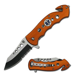 Tac Force TF-498OE Folding Rescue Knife
