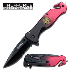 "Tac-Force TF-566FD 4.5"" Fire Department Folding Rescue Knife"