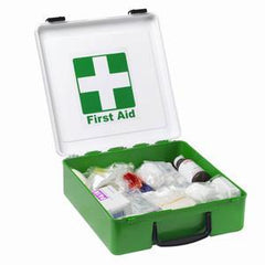 Government Regulation 7 First Aid Kit in Green/White Plastic Case