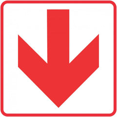 Red Arrow - Location of Fire Fighting equipment safety sign