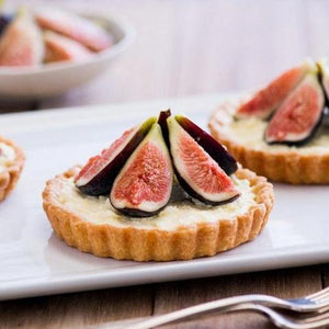 Fruit Tarts with Fig Almond Ice Cream