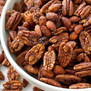 Smoky Spicy Maple Glazed Pecans