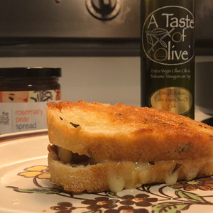 Rosemary Pear Grilled Cheese
