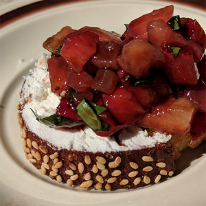 Strawberry Basil Bruschetta