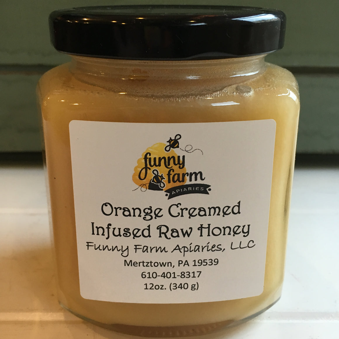 Orange Creamed Infused Raw Honey, 12 oz - A Taste of Olive