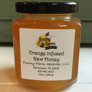 Orange Infused Raw Honey, 12 oz - A Taste of Olive