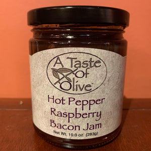 Hot Pepper Raspberry Bacon Jam - A Taste of Olive