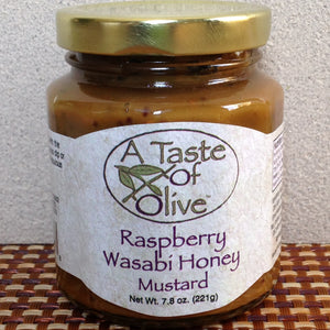 Raspberry Wasabi Honey Mustard - A Taste of Olive