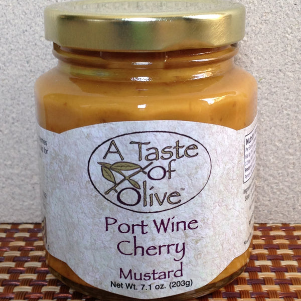 Port Wine Cherry Mustard | A Taste of Olive - A Taste of Olive