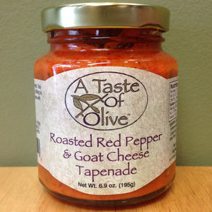 Roasted Red Pepper and Goat Cheese Tapenade - A Taste of Olive