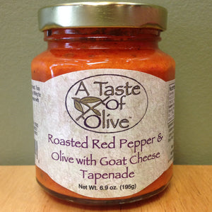 Roasted Red Pepper & Olive with Goat Cheese Tapenade | A Taste of Olive - A Taste of Olive